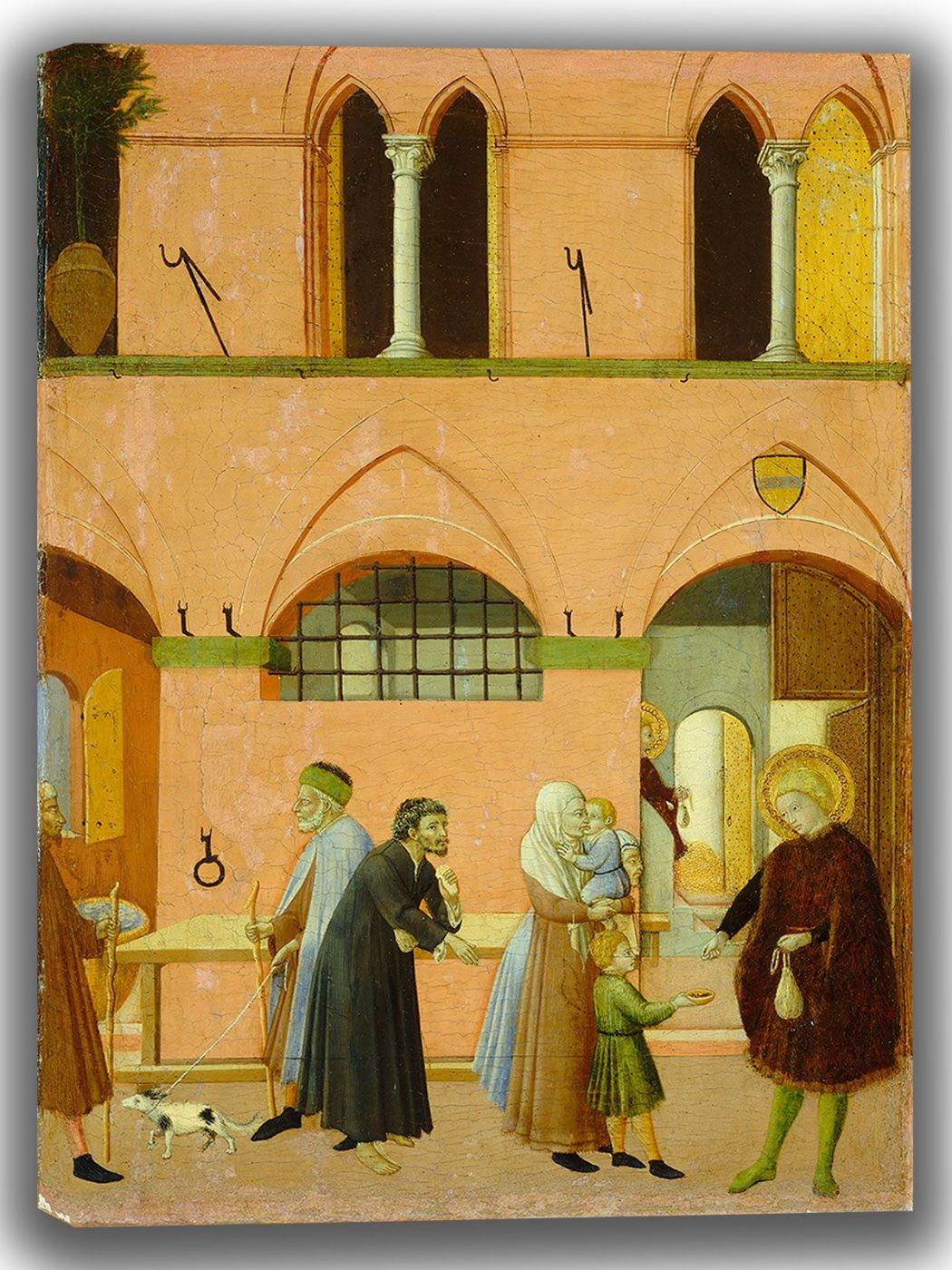 Pietro, Sano di: Saint Anthony Distributing His Wealth to the Poor. Fine Art Canvas. Sizes: A4/A3/A2/A1 (004167)